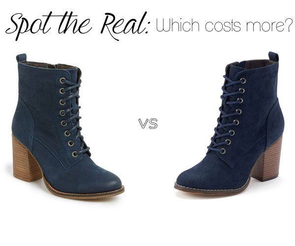 Can you spot the real Steve Madden 'Lauuren' lace up boots?