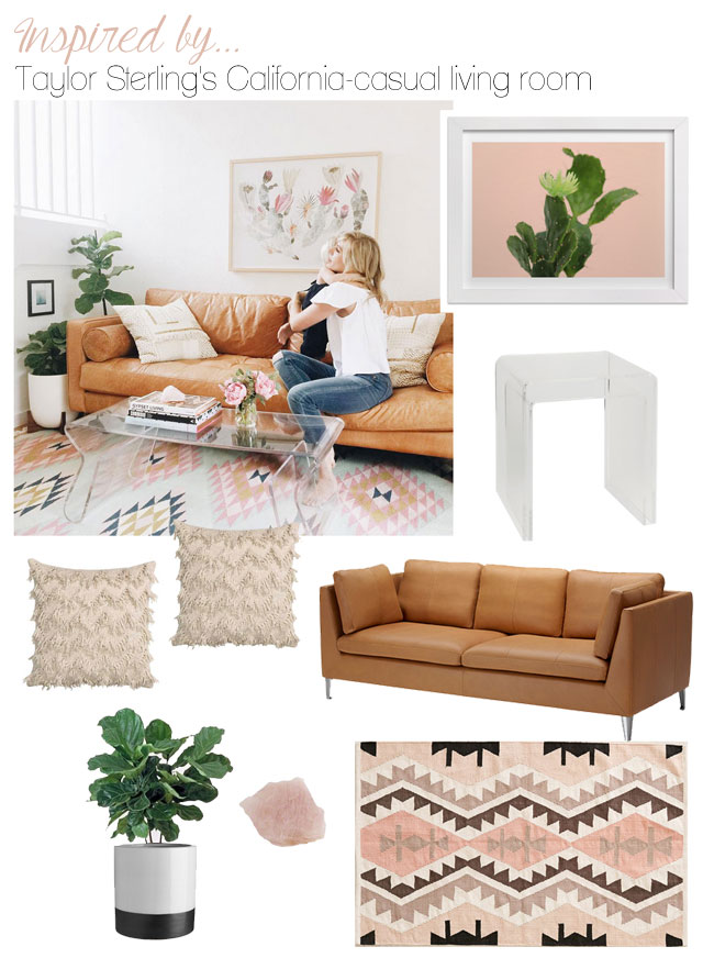 The look for less: Taylor Sterling's California casual living room