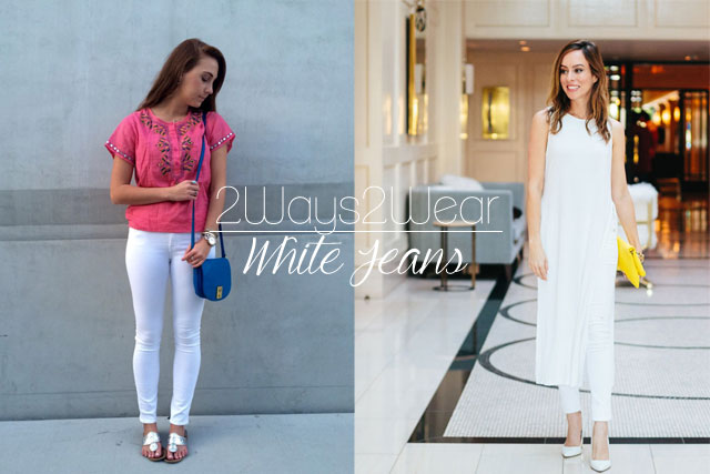 Two Ways to Wear White Jeans