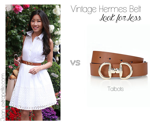 Vintage Hermes reversible belt look for less dupe at Talbots
