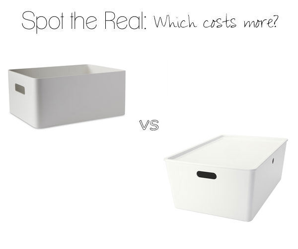 Can you guess which storage bin costs $200?