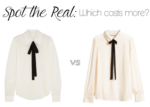 Can you spot the real Chloe bow blouse?