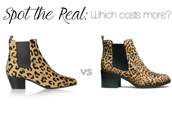 Can you spot the real Yves Saint Laurent leopard ankle boots?