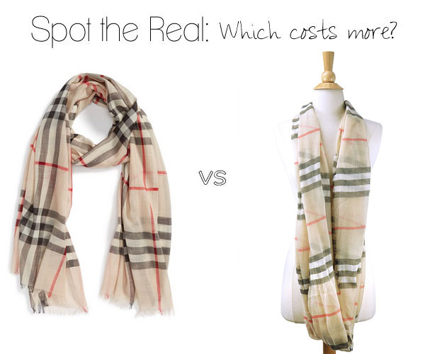 Burberry check scarf: Can you spot the real one?