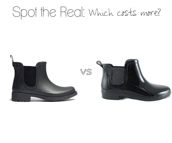 Can you spot the real Madewell Chelsea rain boots?