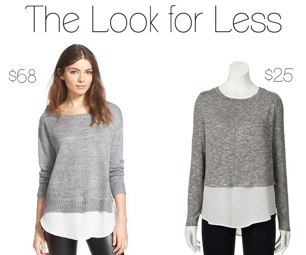 The Look for Less: Mock Layer Sweater