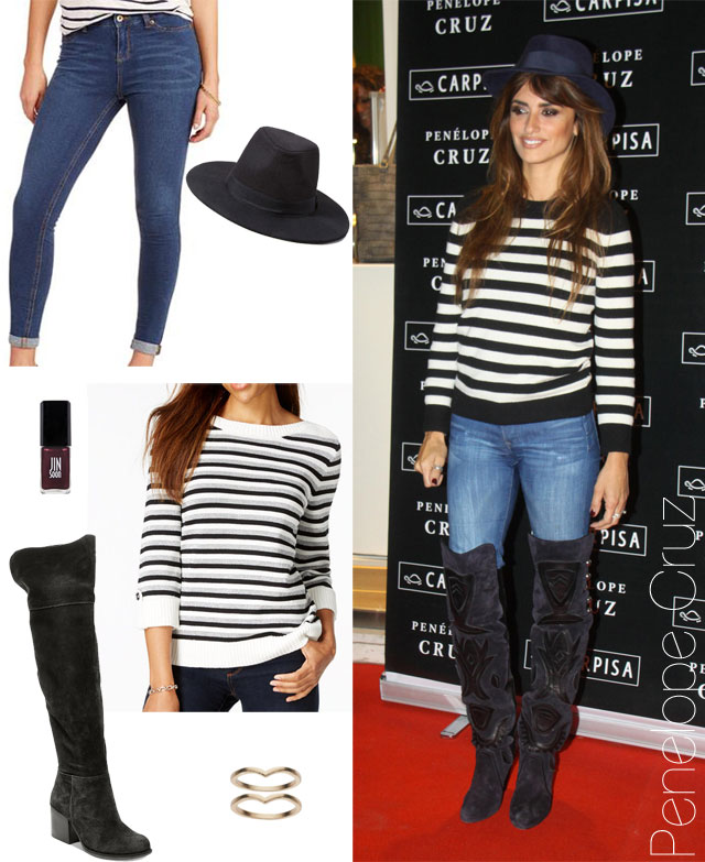 4b64ded5a9f Penelope Cruz fashion style for less. Shop the Celebrity Look for Less  Steve  Madden  Orabela  Over-the-Knee Boots ...