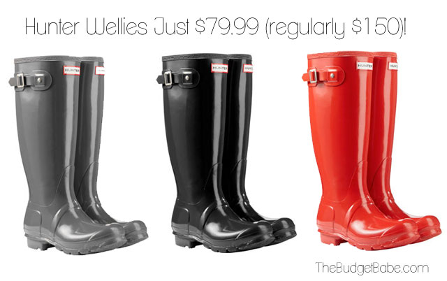Hunter Wellington Boots Are Just $79.99