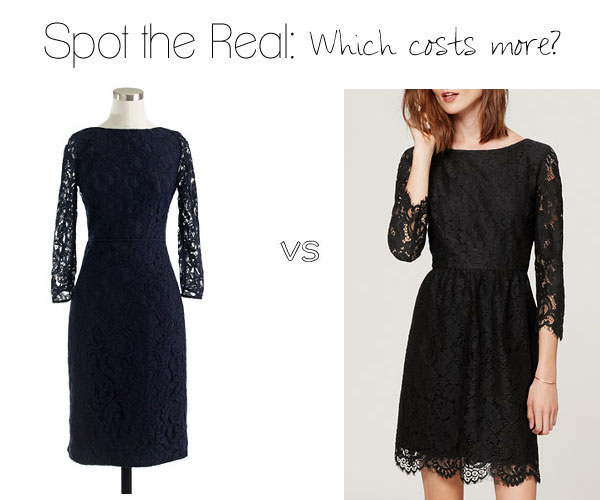 Can you spot the real J.Crew lace dress?