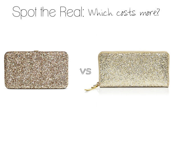 Can you spot the real Kate Spade clutch?