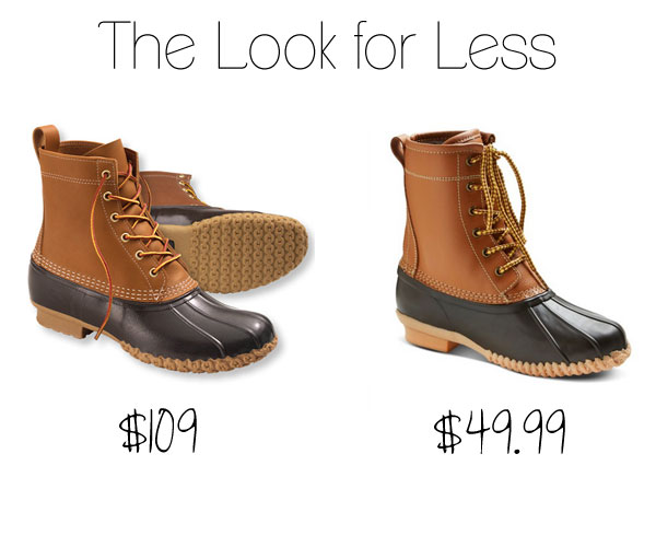 3f83862456 The Look for Less: L.L.Bean Duck Boot Dupes at Target - The Budget ...