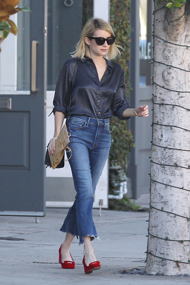 Emma Roberts look for less