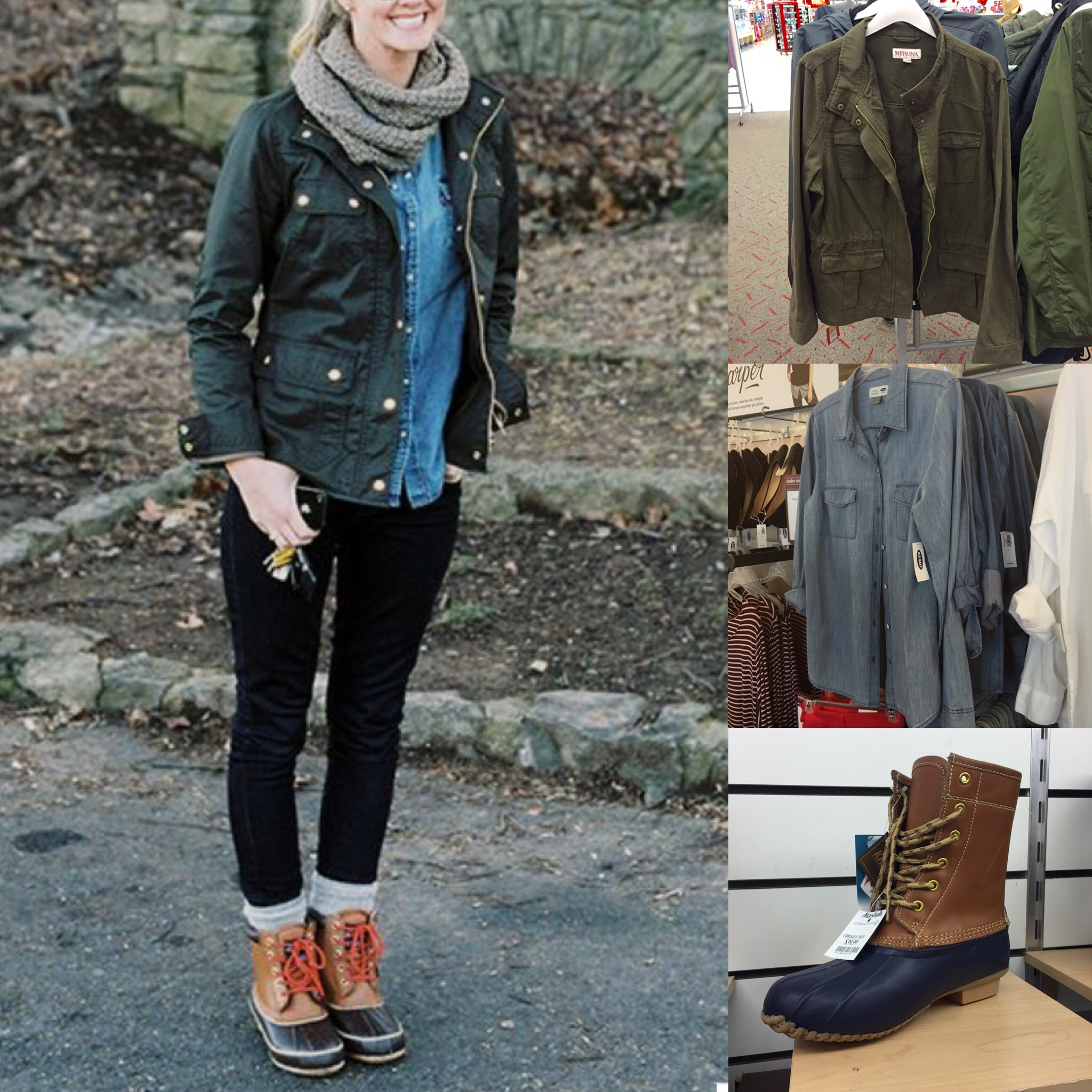 Fall Outfit Idea Preppy Duck Boot Inspiration from Pinterest - The Budget Babe | Affordable ...