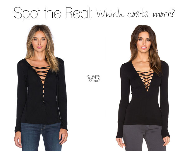 Can you guess which lace up top costs more?