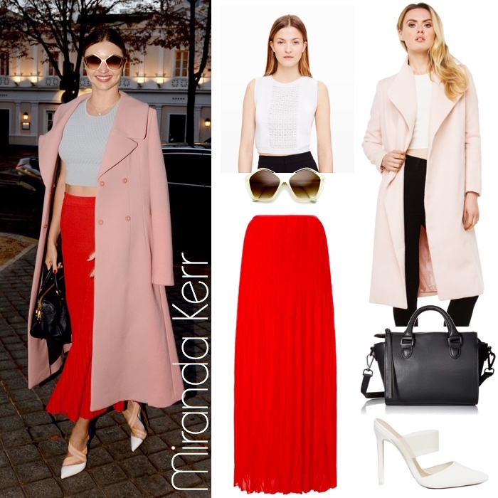 Miranda Kerr Colorblock Look for Less