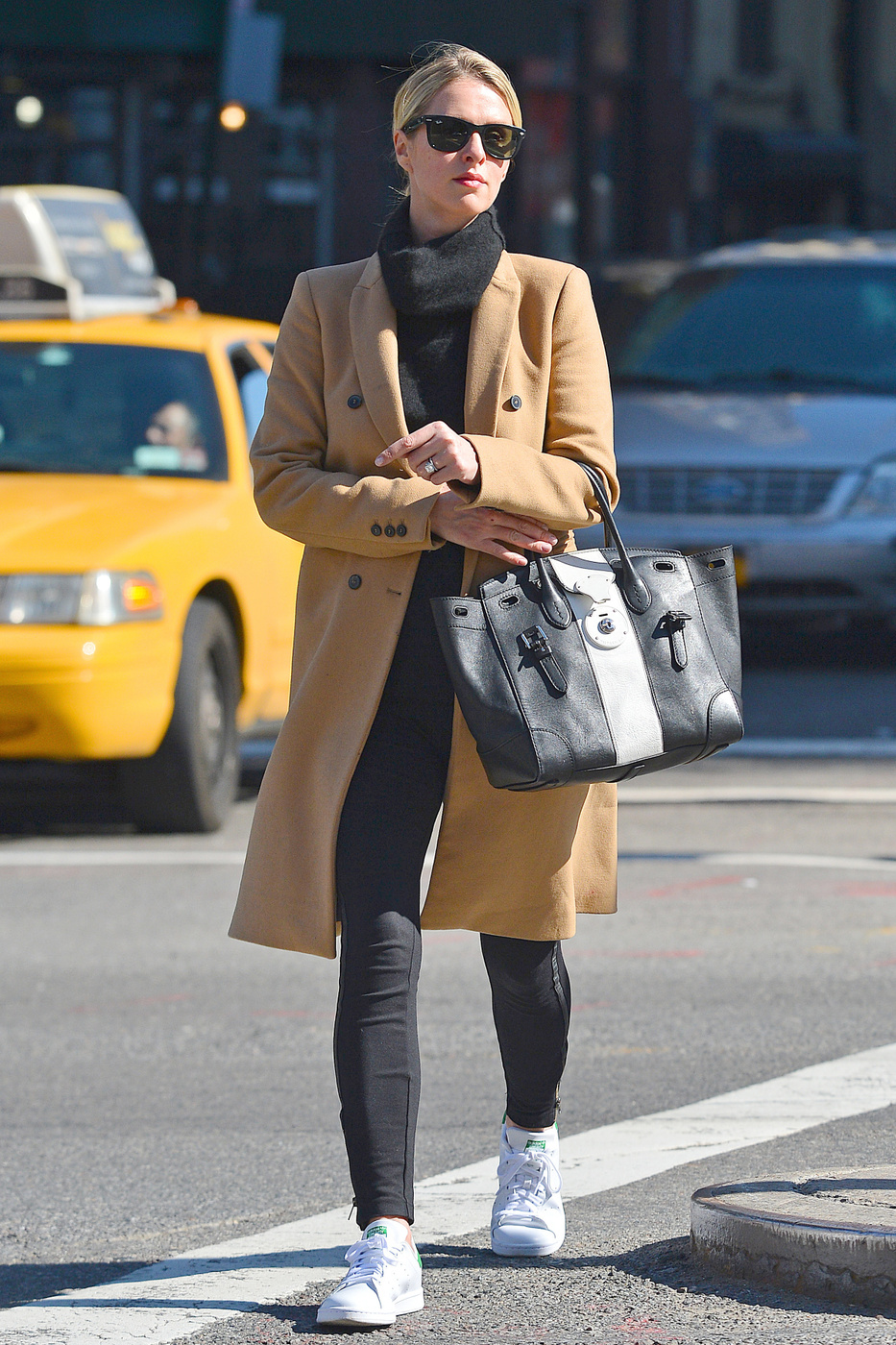 Nicky Hilton Rothschild Camel Coat Sneakers Look for Less