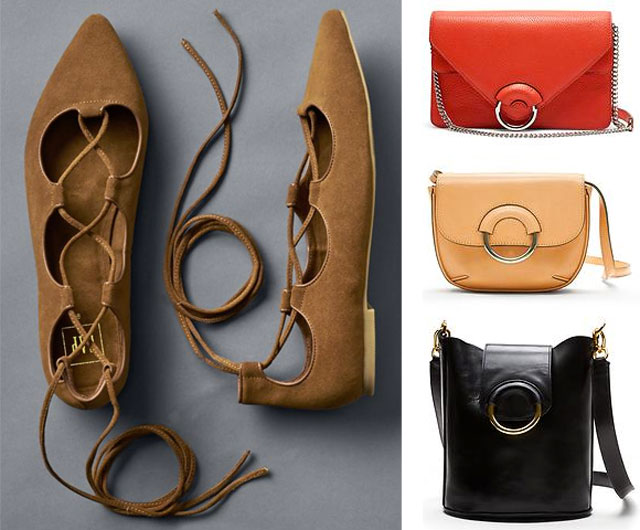 Gap lace up ballet flats, spring bags at BR and more