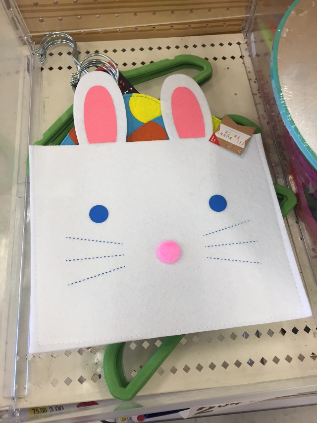 Easter theme items in the dollar bins at Target
