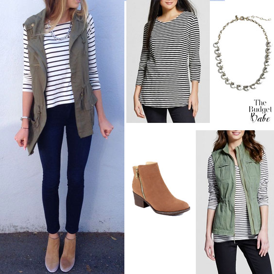 Spring Outfit Idea: Utility Vest and Striped Top