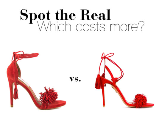Can you spot the real Wild Thing heels?