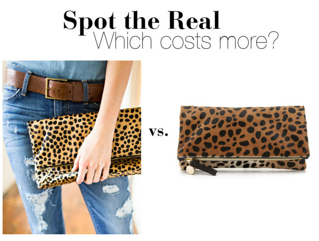 Clare V. leopard clutch look for less