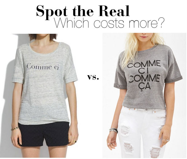 The Look for Less: Comme Ci Comme Ca Tee
