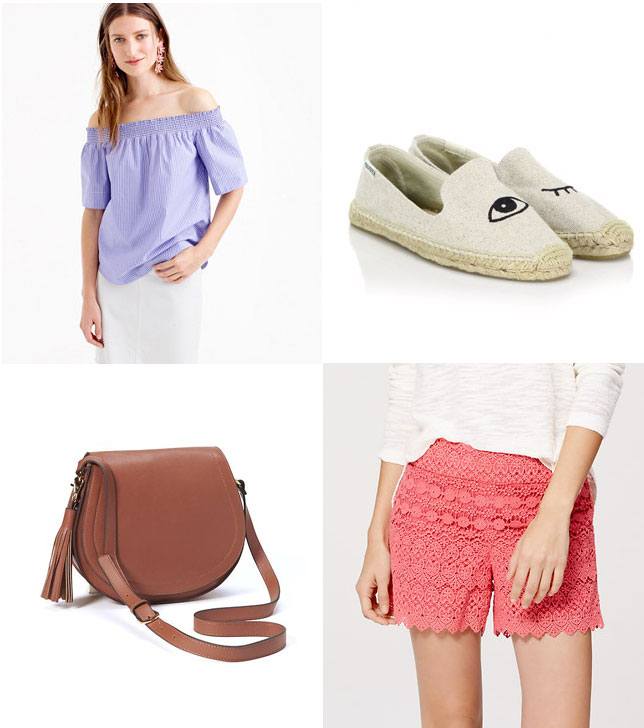 J.Crew top, Old Navy saddle bag and more