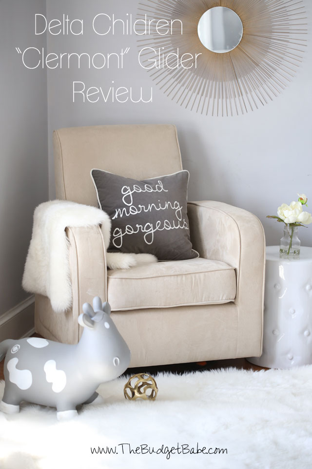 Delta Children 'Clermont' Glider Review - Best Budget Glider for a Small Nursery