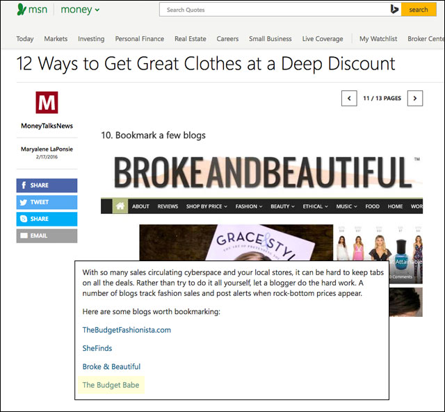 Best budget blogs to bookmark on MSN Money