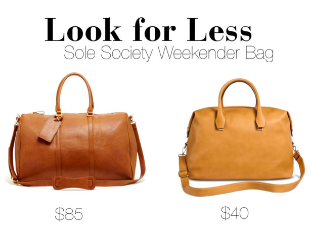 Sole Society Vegan Leather Weekender Look for Less
