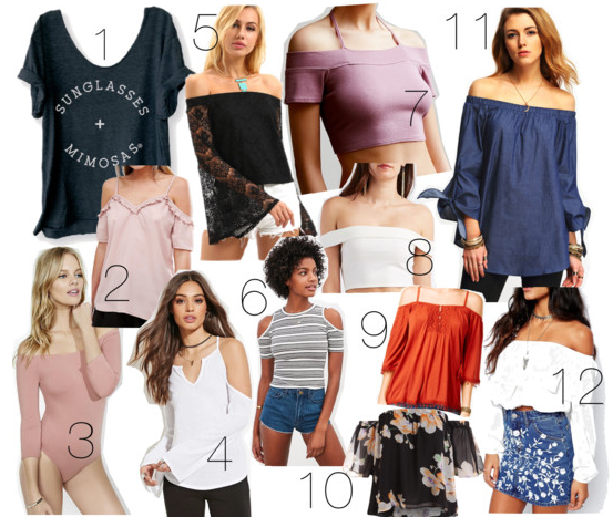 12 cute and cheap off-the-shoulder tops on a budget