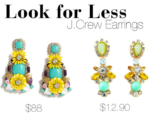 J.Crew earrings look for less
