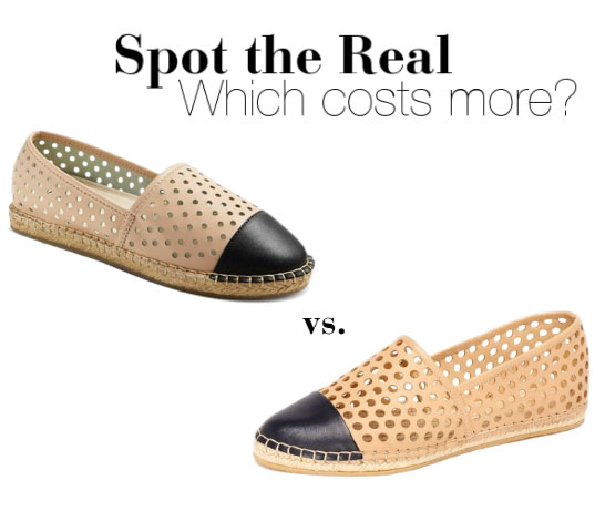 Can you guess which espadrilles cost more?