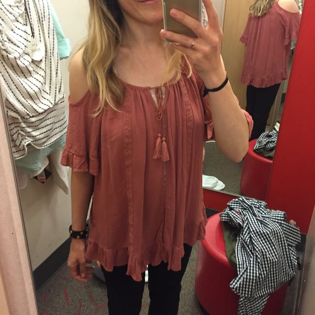 Cold shoulder top by Knox Rose at Target