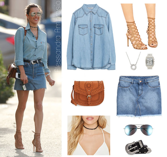 Alessandra Ambrosio's fashion style look for less | The Budget Babe blog