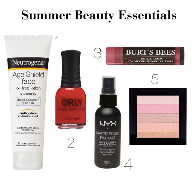 Ashley's Summer Beauty Essentials