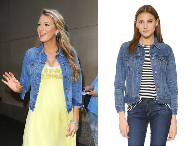 Blake Lively wears a $118 Madewell Denim Jacket