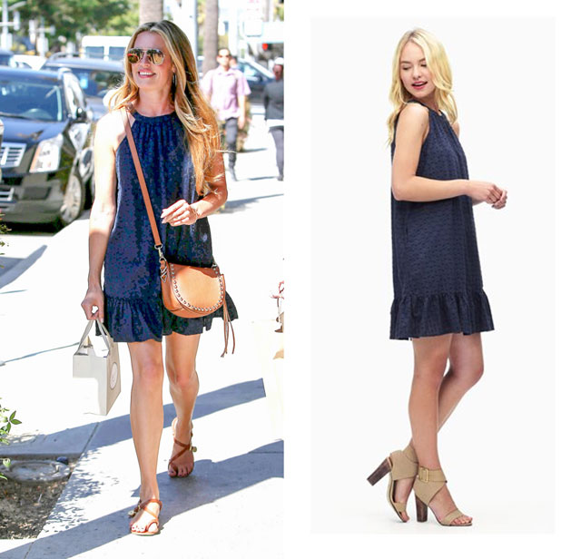 Cat Deeley wears a navy dress by Splendid.