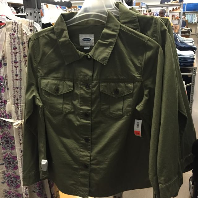 Green cargo jacket from old navy