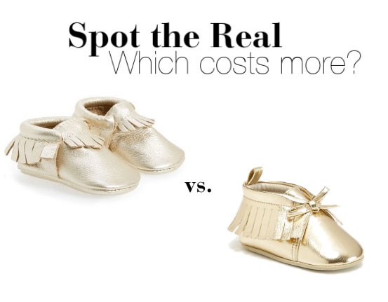 Can you spot the designer baby moccasins?