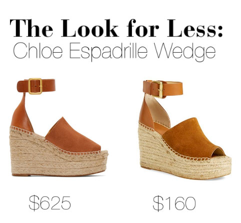 Get the look of Chloe's espadrille wedge sandals for less.