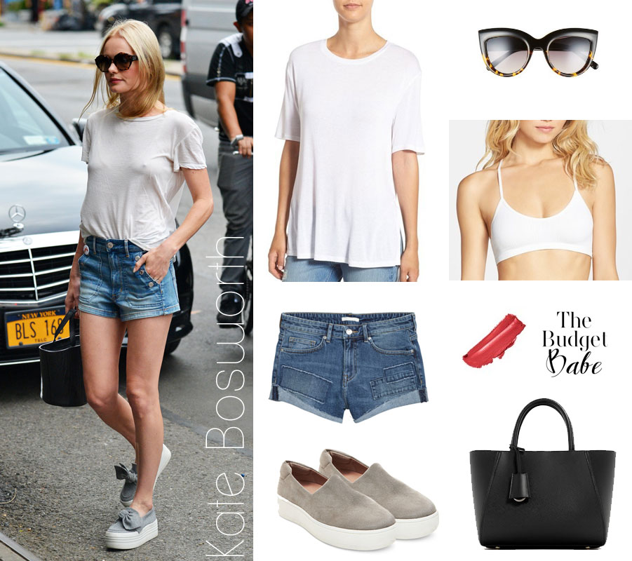 Kate Bosworth's effortless summer style is easy to recreate on a real girl's budget.