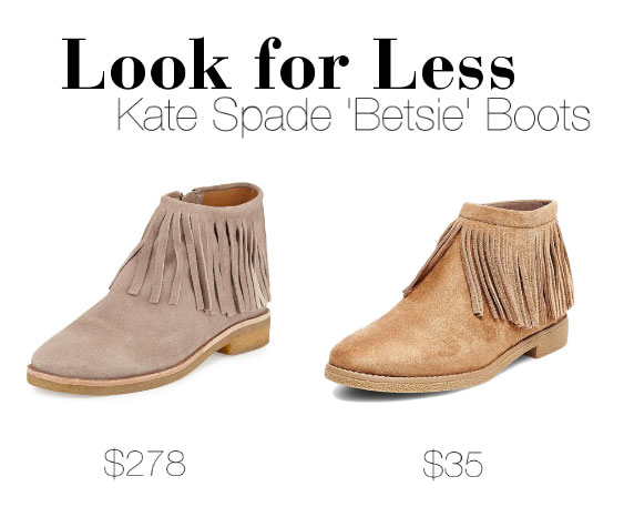 The Look for Less: Kate Spade New York 'Betsie' Fringe Boots