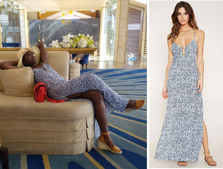 Get Lupita Nyong'o's exact Forever 21 floral maxi dress for under $25!