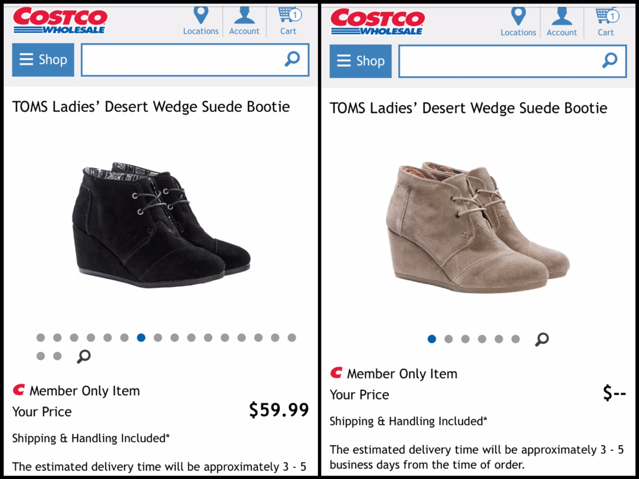 TOMS Desert Wedge booties are just $59.99 for Costco members!