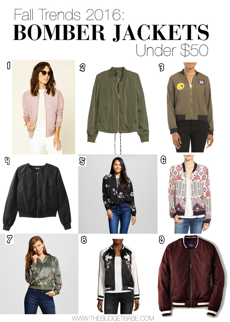 Shop these 9 bomber jacket picks under $50.