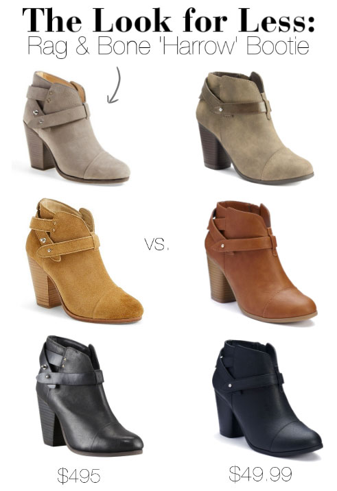 LC Lauren Conrad's slit ankle bootie is a dead ringer for Rag & Bone's iconic Harrow booties.