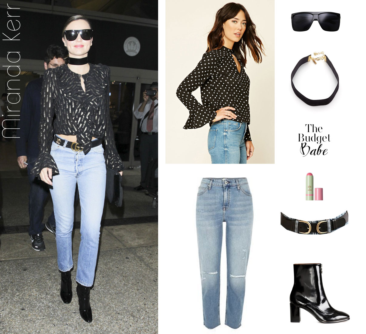 Shop Miranda Kerr's airport style look for less.