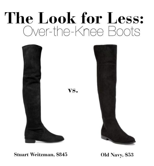 Get the look of Stuart Weitzman's must-have over the knee boots for less.