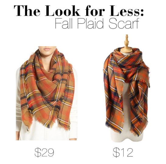Get the look of fall's hottest plaid scarf for half the price.